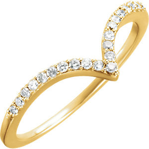 "14k Gold & Diamond Petite ""V"" Ring"