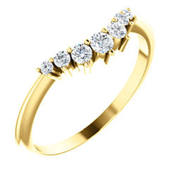 14k Gold & Diamond Tapered Band