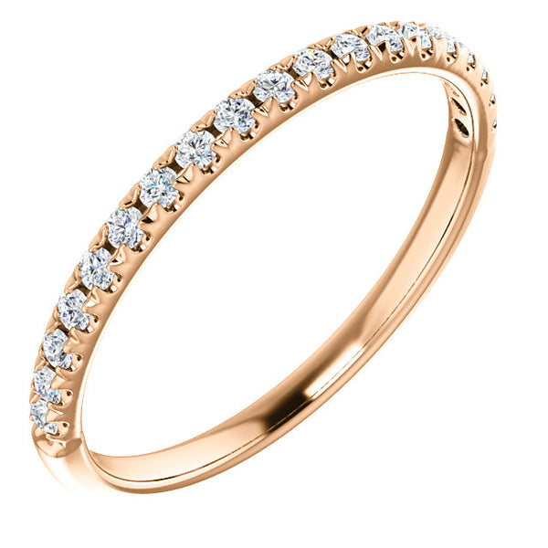 14k Gold & Diamond French-Set Band