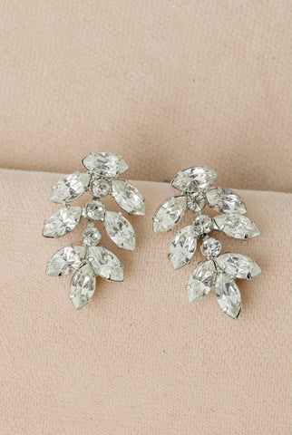 Maquise Leaf Post Earring