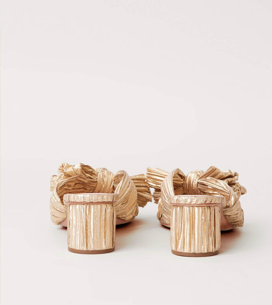 Emilia Pleated Knot Sandal