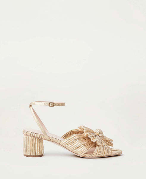 Dahlia Bow Low Heel with Ankle Strap