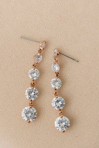 Contemporary Graduated Crystal Drop Earrings