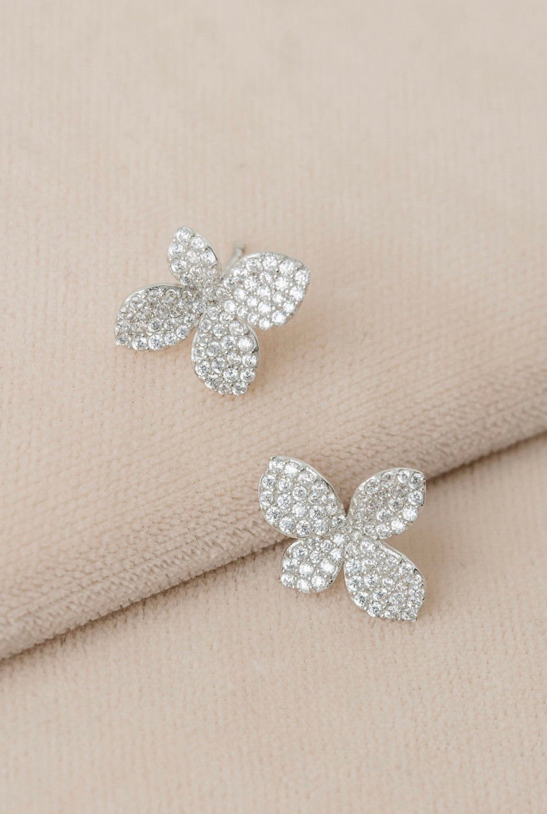 Pavé Lily Post Earrings
