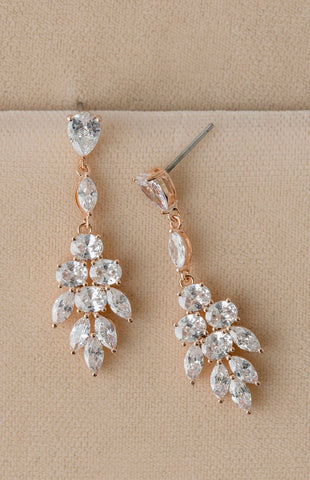 Mixed Crystal Statement Drop Earrings