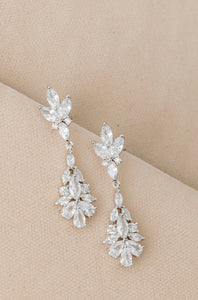 Petite Fleur Crystal Dangle Earrings