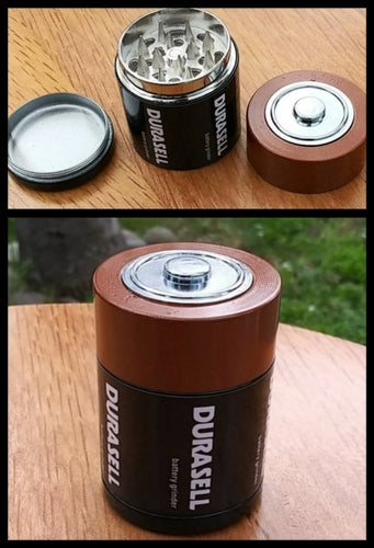 2 layer Metal Battery Grinder - The Bong Czar