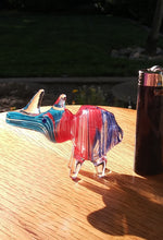 "Load image into Gallery viewer, 3.5"" Mini Colorful Glass Rhino Pipe - The Bong Czar"