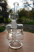 "Load image into Gallery viewer, 5"" Mini Double Barrel Glass Recycler - The Bong Czar Shop & Heady Czar Glass Gallery"