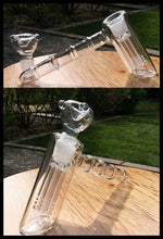 Load image into Gallery viewer, 6 Arm Tree perc Hammer Bubbler Pipe - The Bong Czar