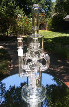 "Load image into Gallery viewer, 6b Glass - 8 Tube Recycler- 4 bottom Rocket Percs - Top Disc Perc - 14"" - The Bong Czar Shop & Heady Czar Glass Gallery"