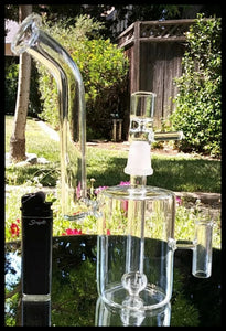"7.5"" Clear Glass Watering Can Bubbler Bong - The Bong Czar"