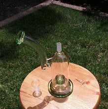 "Load image into Gallery viewer, 9.5"" Green and Clear With Matrix Perc - The Bong Czar Shop & Heady Czar Glass Gallery"