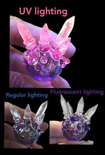 BasedGlass - UV / CFL Color Changing Crystal Bubble Cap