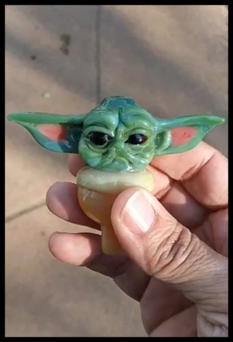 The Glass Fish - Baby Yoda Bubble Cap