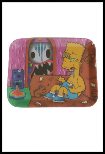Bart Simpson Rolling Tray - Bamboo 7