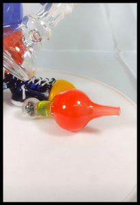 Cal Smith Glass - Conker Full size Rig, bubble cap and Pendant - The Bong Czar Smokeshop & Heady Czar Glass Gallery