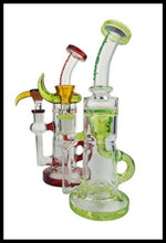 "Load image into Gallery viewer, Cheech Glass - 9"" Inner Recycler water pipe - The Bong Czar"