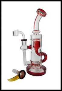 "Cheech Glass - 9"" Inner Recycler water pipe - The Bong Czar"