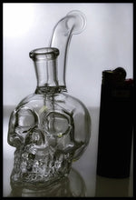 "Load image into Gallery viewer, Clear Mini Skull Dab Rig 7"" - The Bong Czar Smokeshop & Heady Czar Glass Gallery"