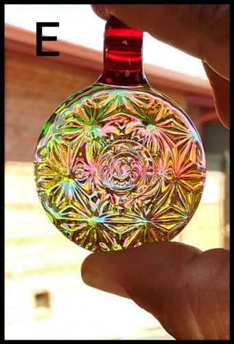 Trippy Heady Pendant - Yellow Vortex Light Bender-Heady Czar Gallery