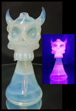 Load image into Gallery viewer, Esoteric Artistry Glass - UV Demon Skull Jammer - The Bong Czar Smokeshop & Heady Czar Glass Gallery