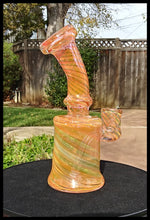 Load image into Gallery viewer, Fumed Pink/Tangerine color dab rig - The Bong Czar