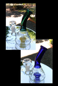 "Glass Behive with Bent Neck Bong 7"" - The Bong Czar"