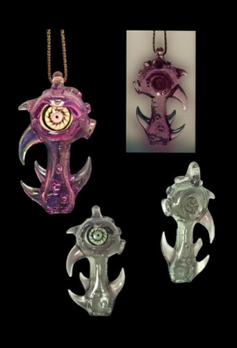 GlassHole Glass - Color Changing Tentacle Eye ball Pendy - Functional Pipe - The Bong Czar Headshop