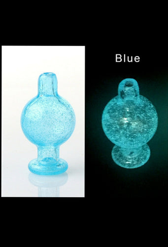 Glow in the dark Bubble Cap - Blue - The Bong Czar