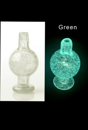 Glow in the dark Bubble cap - Green - The Bong Czar