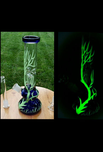 Glow in the Dark Glass Tree Bong 10
