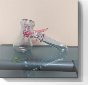Helios Glass - Color changing Dry Hammer with horn and Opal - The Bong Czar Shop & Heady Czar Glass Gallery