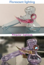 Load image into Gallery viewer, Helios Glass - Color changing Dry Hammer with horn and Opal Pipe - The Bong Czar