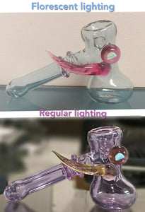 Helios Glass - Color changing Dry Hammer with horn and Opal Pipe - The Bong Czar