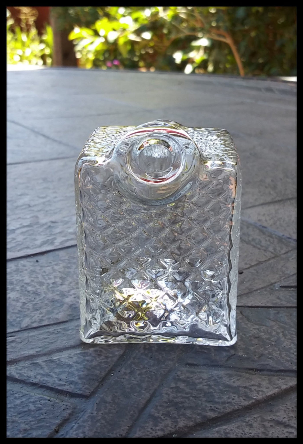 James Lang Glass - Diamond Tech Clear Cube - The Bong Czar Smokeshop & Heady Czar Glass Gallery