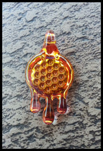 Load image into Gallery viewer, James Lang Glass - Honey Drip Hone Comb Pendant - The Bong Czar Smokeshop & Heady Czar Glass Gallery