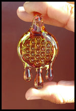 Load image into Gallery viewer, James Lang Glass - Honey Drip Honey Comb Pendant - The Bong Czar Smokeshop & Heady Czar Glass Gallery