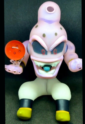 Lazy Glass - PRE ORDER Chibi Buu with Dragon Ball Slurper marble set