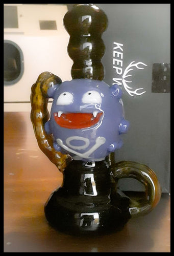 Loki Glass - Koffing Gas attack Recycler - The Bong Czar Smokeshop & Heady Czar Glass Gallery