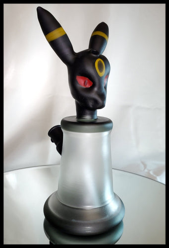 Loki Glass - Umbreon Jammer Sand Blasted and oiled - The Bong Czar Smokeshop & Heady Czar Glass Gallery