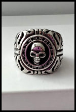 Load image into Gallery viewer, Mens Ring Biker Skull -Stainless Steel Ring - The Bong Czar online Smokeshop