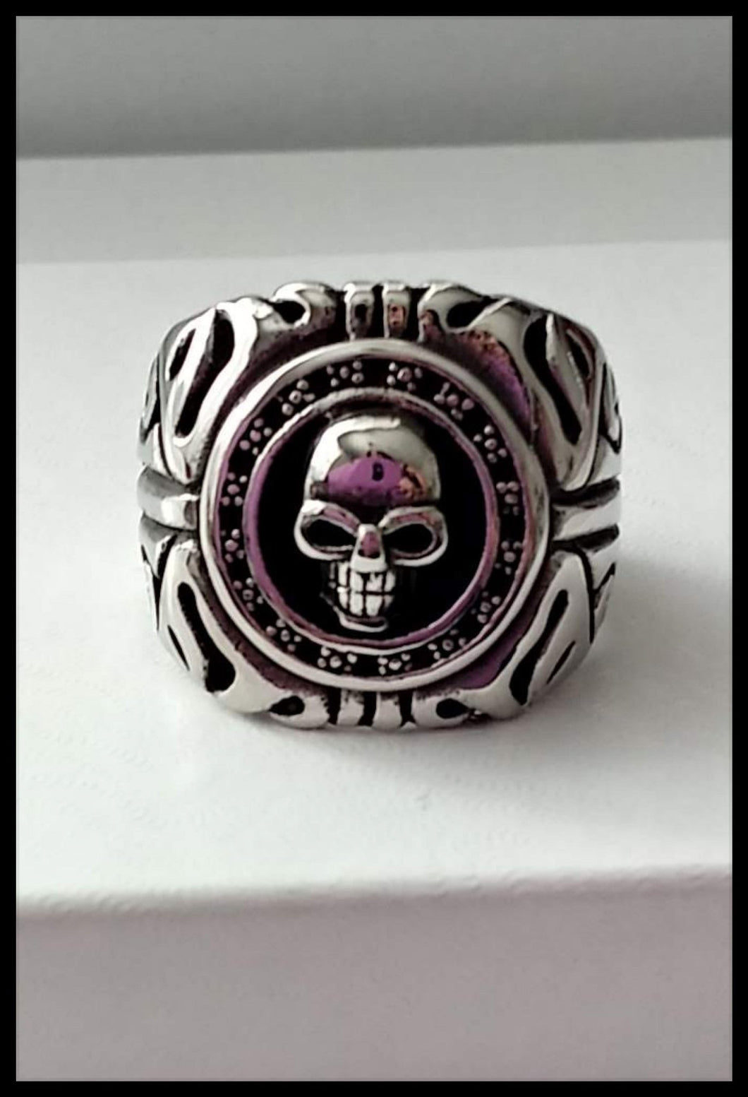 Mens Ring Biker Skull -Stainless Steel Ring - The Bong Czar online Smokeshop
