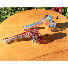 Load image into Gallery viewer, Mini Candy Cane Swirl Hammer Head Bubbler - The Bong Czar Shop & Heady Czar Glass Gallery