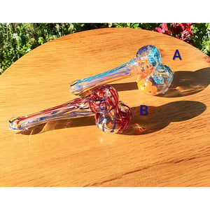 Mini Candy Cane Swirl Hammer Head Bubbler - The Bong Czar Shop & Heady Czar Glass Gallery