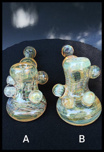 Oats Glass - Fumed Hammer Pipes with marble attachments - The Bong Czar