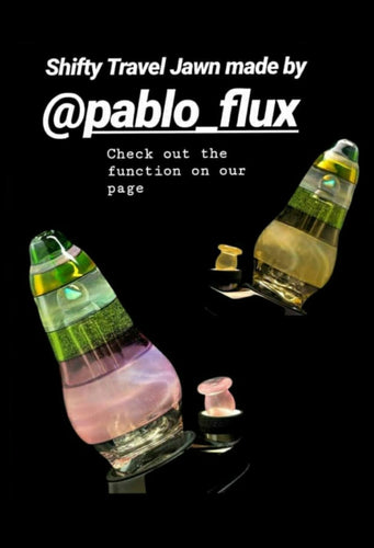 Pablo Flux Glass - Shifty Travel Jawn attachment for the Puffco Peak - The Bong Czar