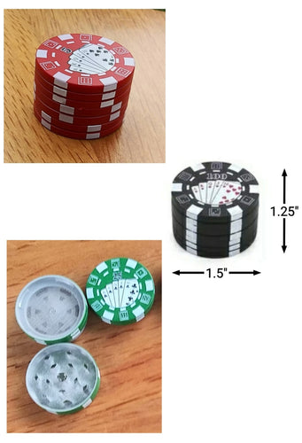 Poker Chip 2 layer Metal Grinder - The Bong Czar