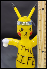 Load image into Gallery viewer, ShoeLess Glass - Pikachu Thug Life Rig - The Bong Czar Smokeshop & Heady Czar Glass Gallery