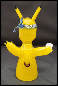 ShoeLess Glass - Pikachu Thug Life Rig - The Bong Czar Smokeshop & Heady Czar Glass Gallery